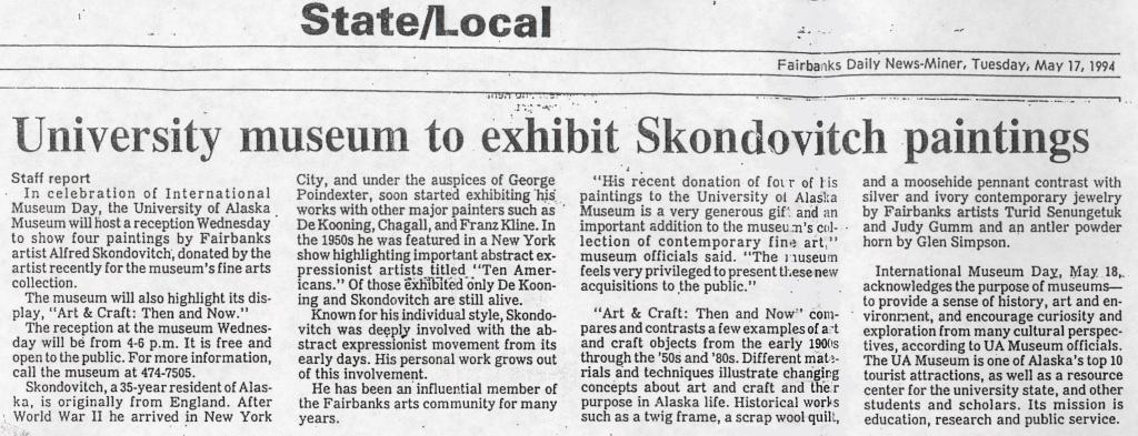 Fairbanks Daily News-Miner, 1994
