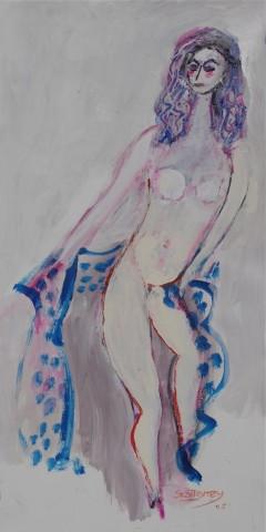 Valery in Blue Shawl