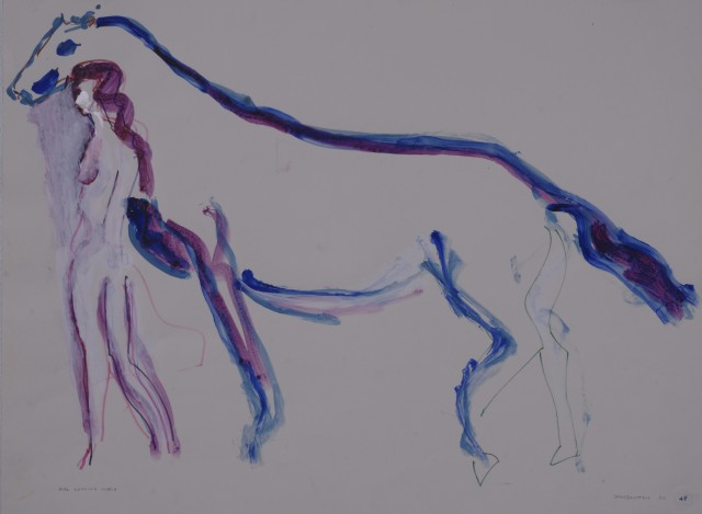 Girl Leading Horse