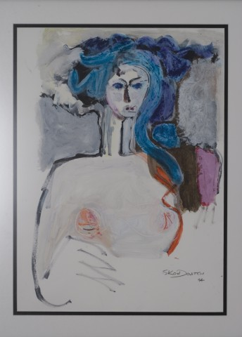 Blue Hair Lady