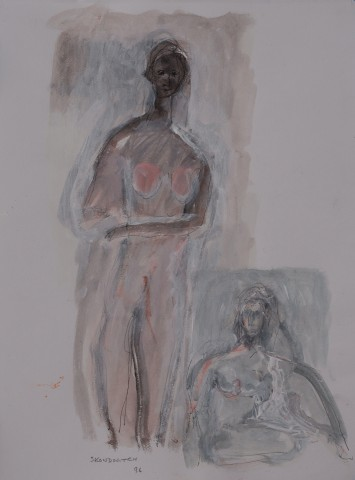 Standing and Seated Figure